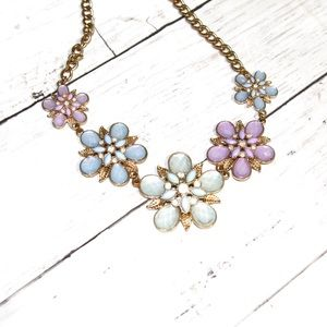 Pastel floral statement necklace